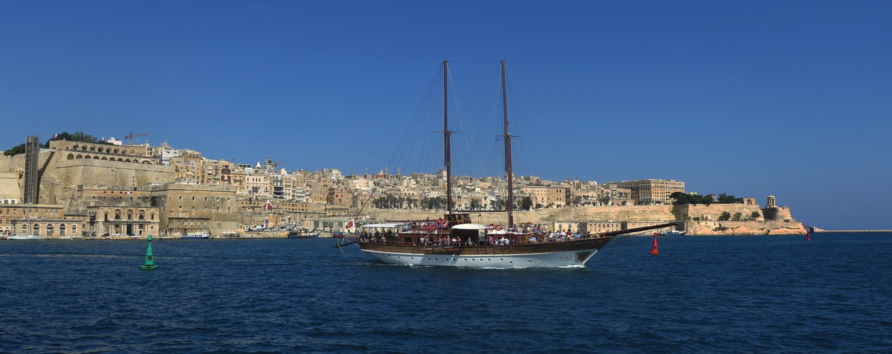 Malta Valletta Panorama