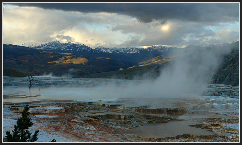 Mammoth Hot Springs...