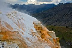 Mammoth Hot Springs Terrassen