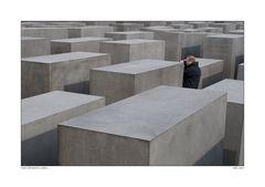 man between cubes ...