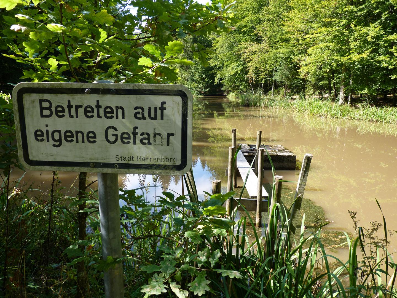 Man kommt ja, ohne zu schwimmen, nicht mal hin!