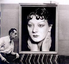 Man Ray - con un ritratto di Kiki de Montparnasse del 1930, Parigi 1954