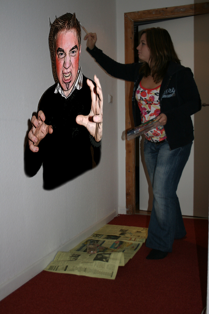 Man soll nicht immer den teufel an die wand malen foto bild quatsch fun und r tselecke - Bilder an die wand malen ...