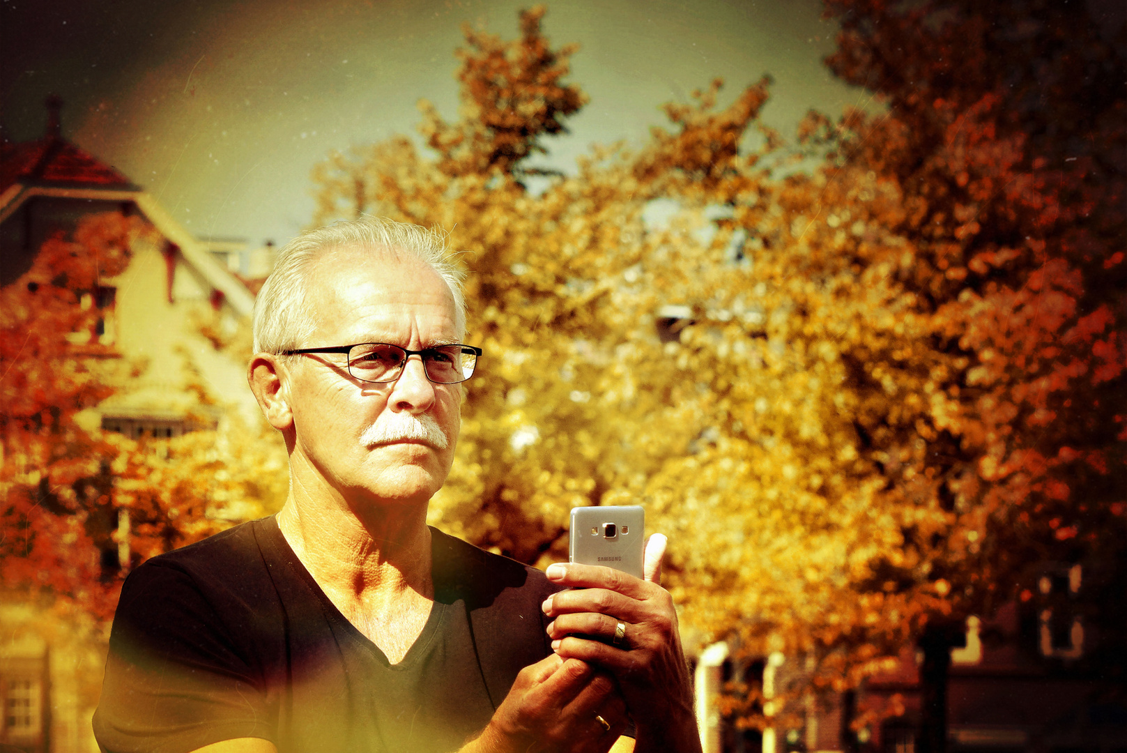 ... man with mobile phone