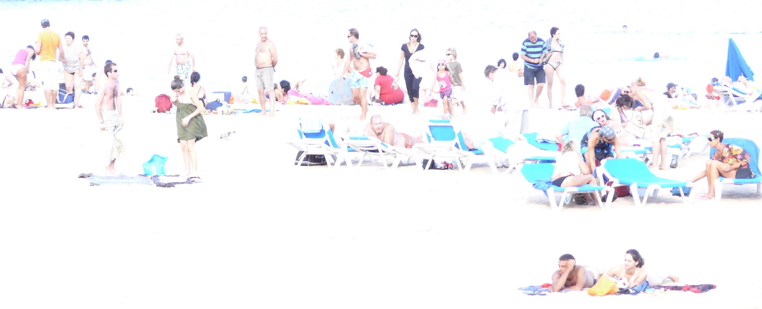 Manche gehn schon - am Strand auf Madeira