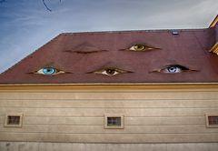Manche Häuser gucken so