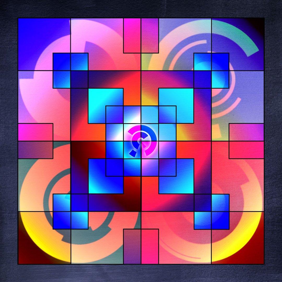 Mandala No 3 Quadrandala Bunt Foto Bild 2d Grafik Vektorart