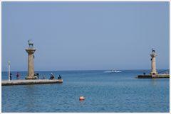 Mandraki-Hafen Rhodos