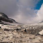 Mandrone Gletscher mit Corno Bianco