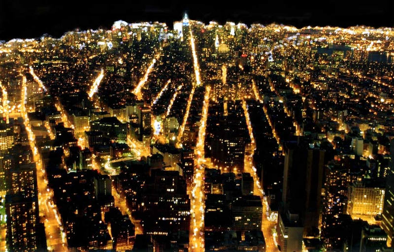 Manhattan at night...