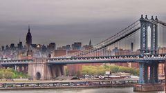Manhattan Bridge Skyline