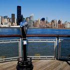 Manhattan NY vista da Long Island