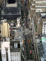 Manhattan Straßenverkehr aus Sicht Empire State Building