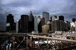 Manhattan von der Brooklyn Bridge