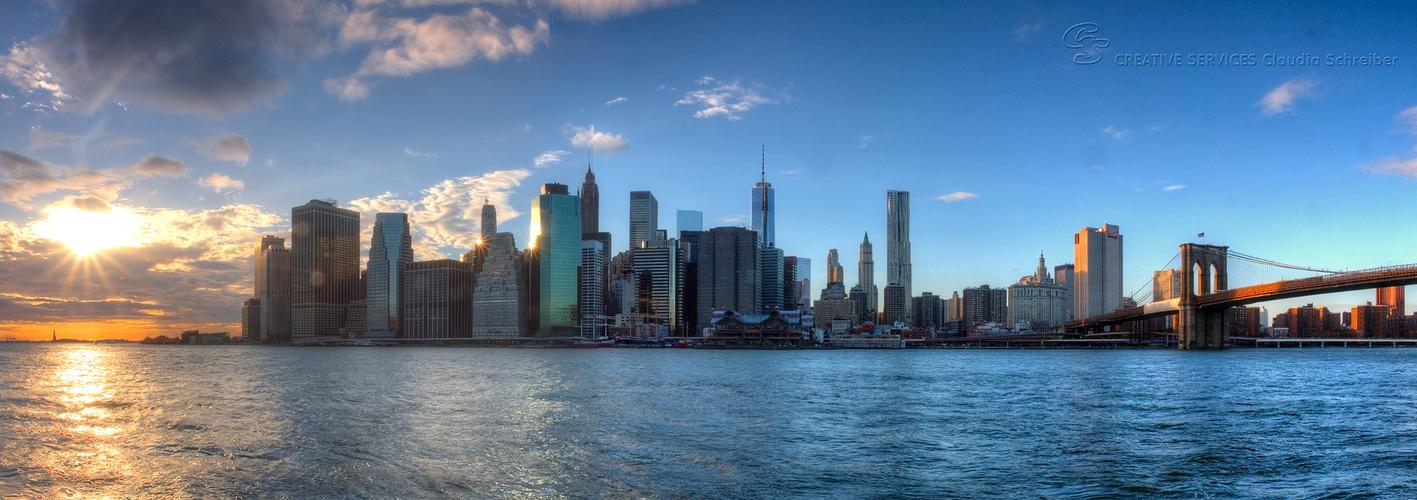 Manhatten von Brooklyn Bridge aus