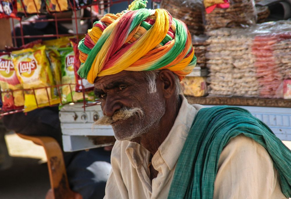 Mann mit Turban India