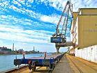 Mannheim Hafen Rhein Kran