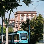 Mannheimer Schloss mit Strassenbahn