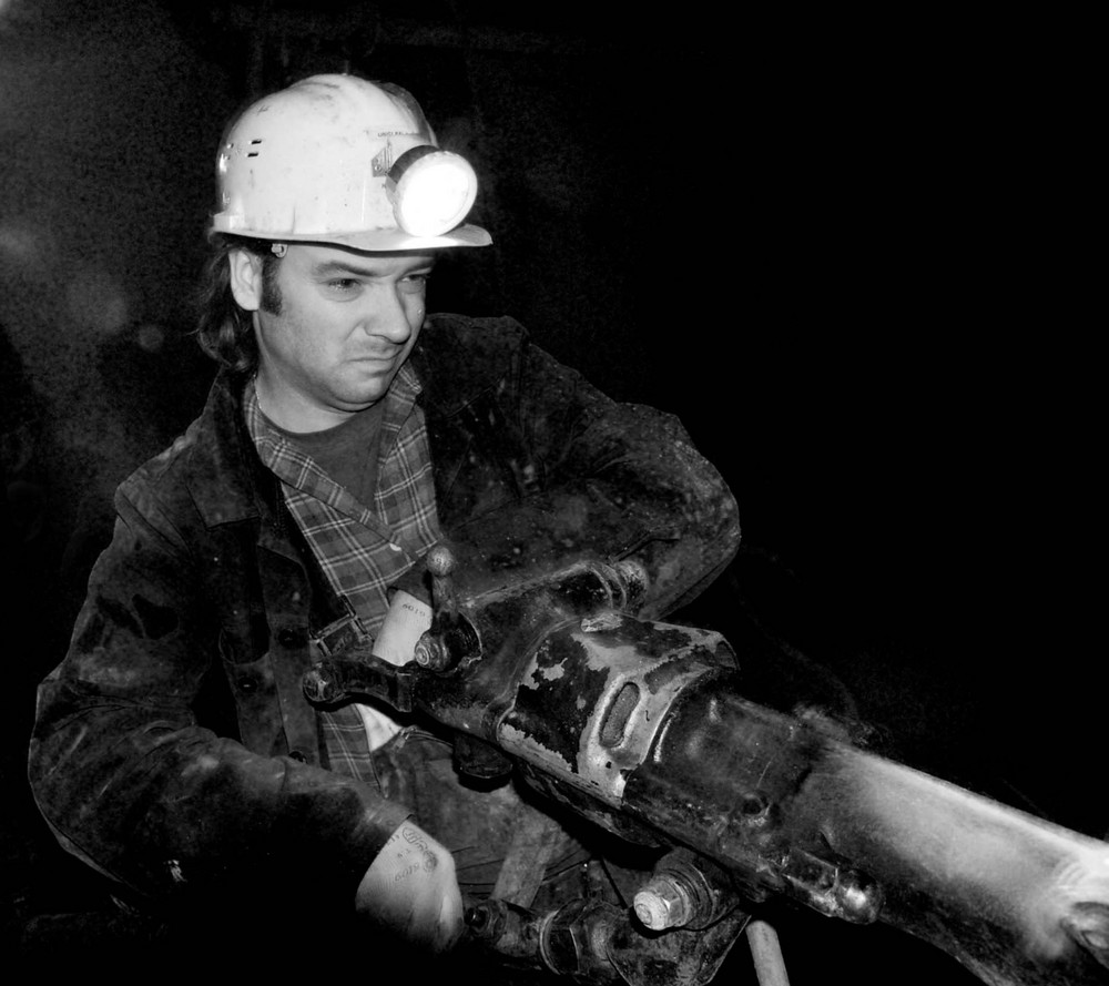 Manual drilling.