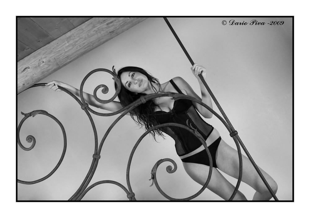 Manuela on the railing