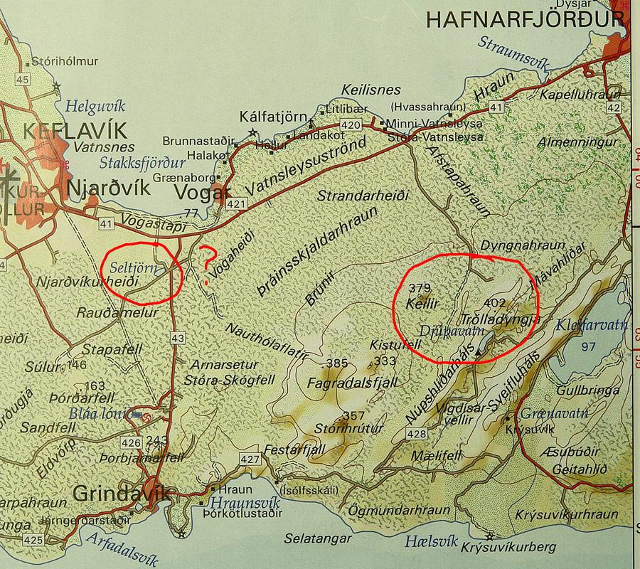 map Kleyvarvatn