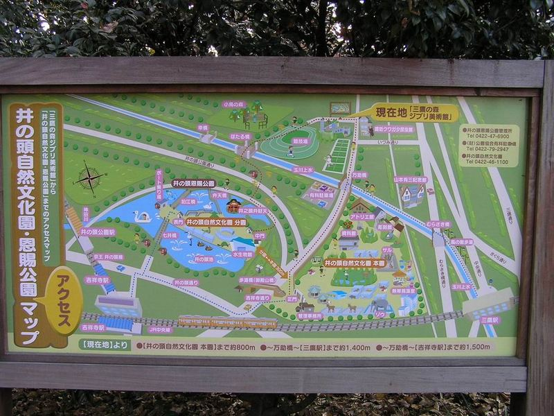map of enokashira park