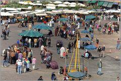 Marakech Platz 'Jemaa-El-Fna'