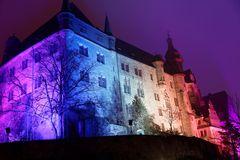 """Marburger Schloss im Licht des Events """"Marburg buy night"""""""