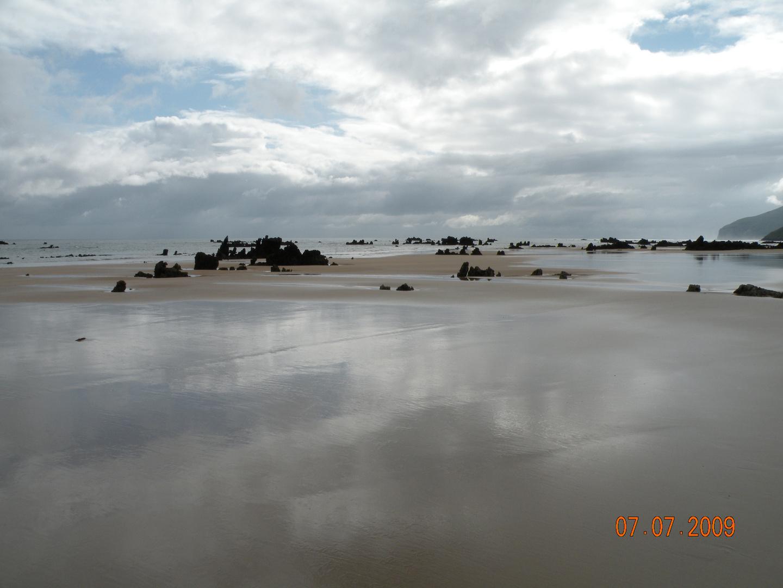 Marea baja en Noja