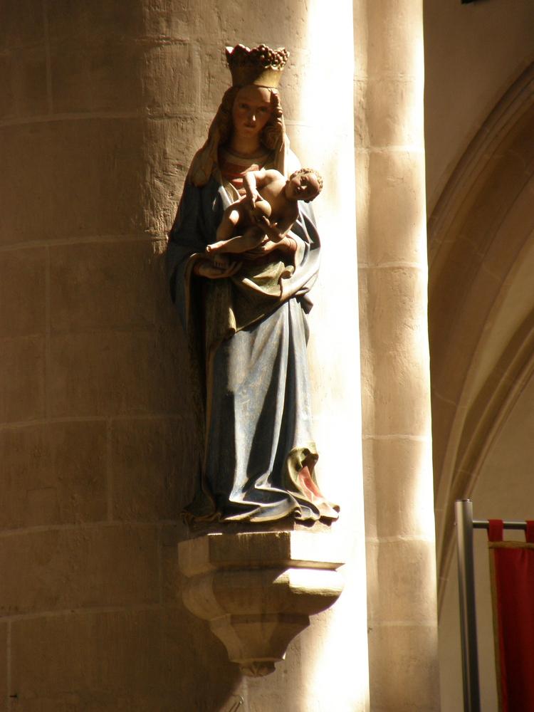 Maria-Skulptur in der St. Moritz Kirche Ingolstadt