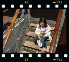 Mariana con paura della Nave :-))