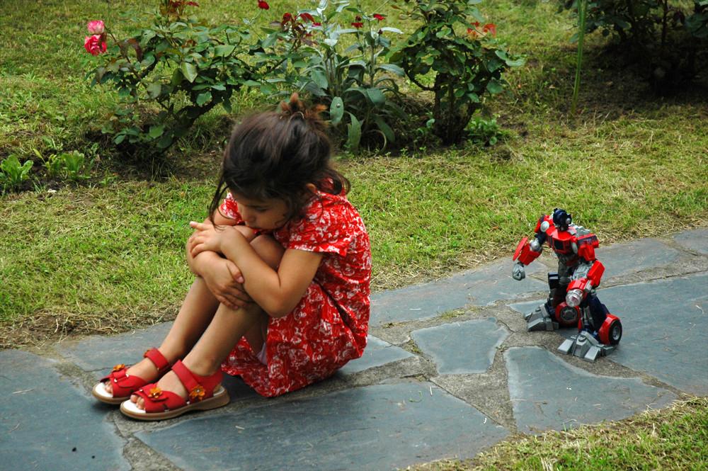 Marie et le robot