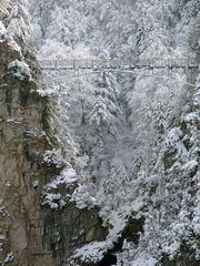 Marienbrücke im Winter.