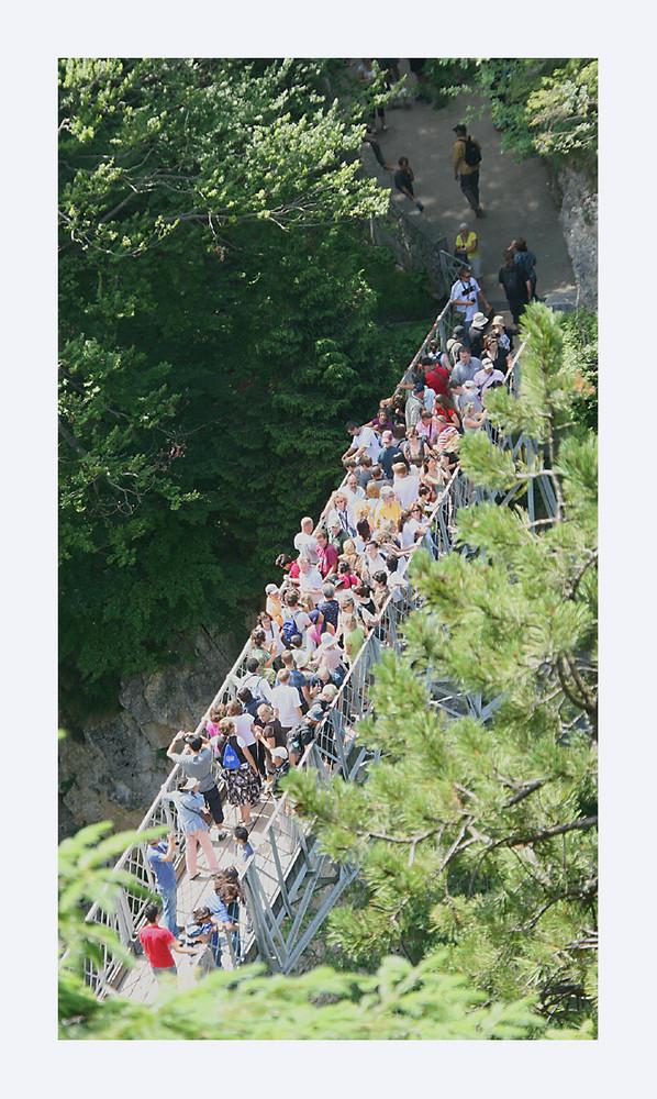 Marienbrücke was ein Gewimmel