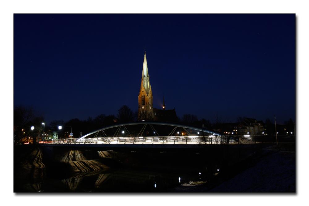 Marienkirche Lünen bei Nacht