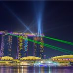 Marina bay sands Lasershow 1