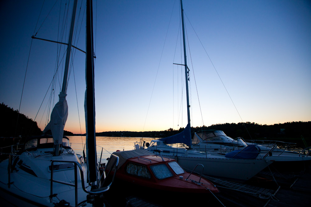 Marina in Fisksätra bei Stockholm