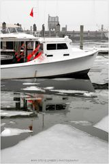 Marina with Ice Floes and Fog - an Eastport Impression