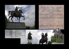 Mark Aurel Statue an der Donau