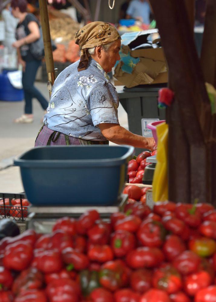 market-woman in sibiu