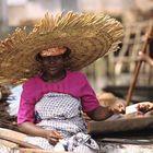 Markt auf dem Wasser in Benin