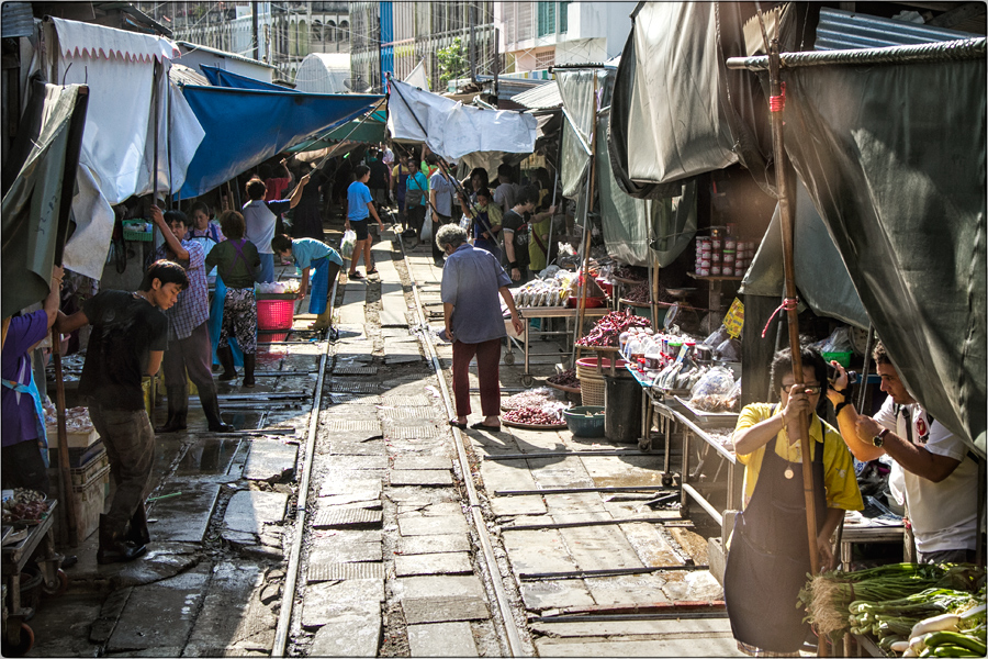 Markt auf Schienen