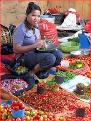 Markt im Hochland von Celebes