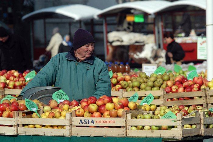 Markt in Slowenien