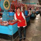 Marktfrau in Almaty