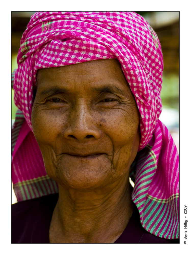 Marktfrau in Siem Reap
