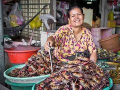 Marktfrau in Sihanoukville