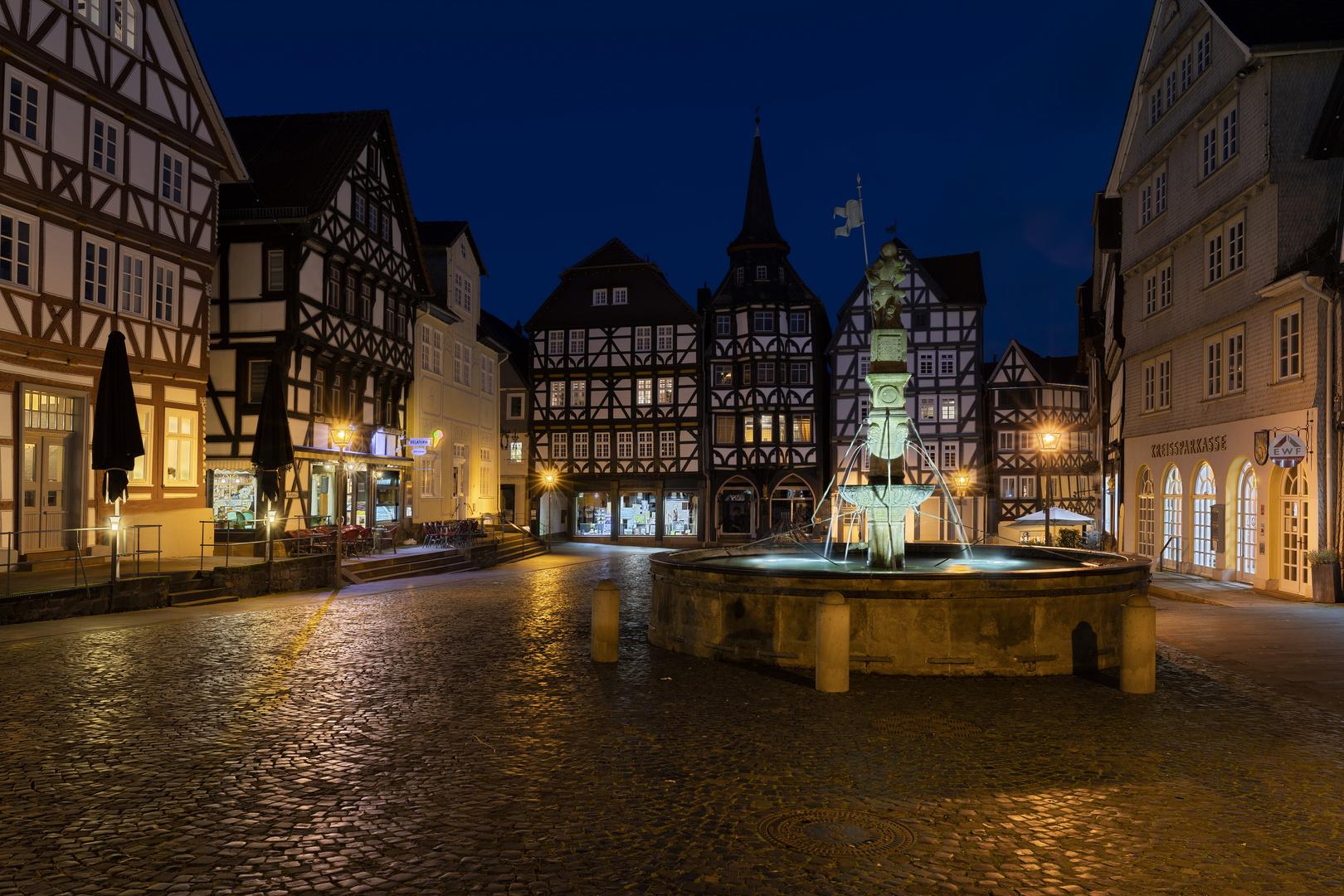 Marktplatz Fritzlar – Rolandsbrunnen