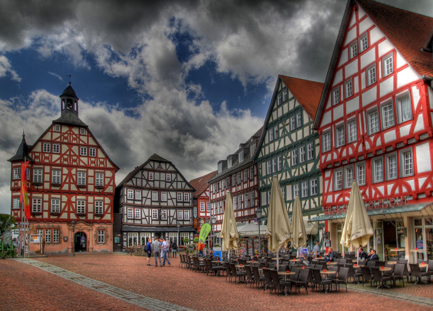 Marktplatz und Altstadt von Grünberg (Hessen) Foto & Bild ...