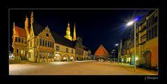 Marktplatz von Lemgo bei Nacht